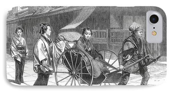 Japan: Rickshaw, 1874 Phone Case by Granger