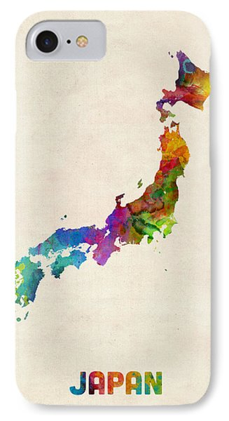 Japan Watercolor Map IPhone Case