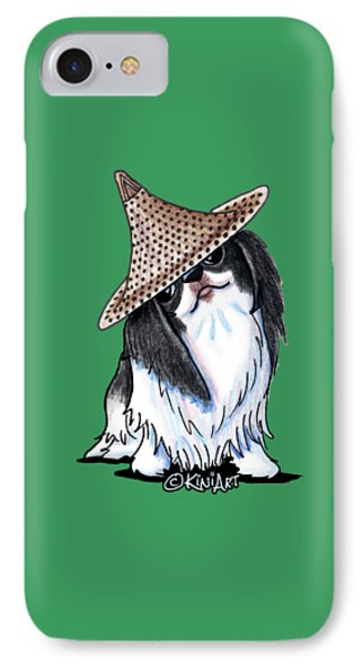 Japanese Chin  IPhone Case by Kim Niles