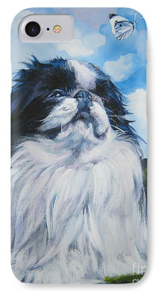 Japanese Chin IPhone Case by Lee Ann Shepard
