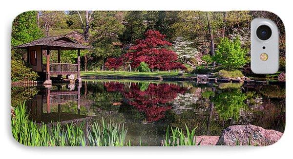 Japanese Garden At Maymont IPhone Case by Rick Berk