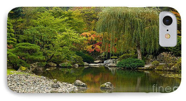 Japanese Gardens IPhone Case by Mike Reid