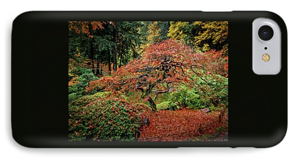 IPhone Case featuring the photograph Japanese Maple At The Japanese Gardens Portland by Thom Zehrfeld