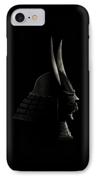 Japanese Samurai Helmet IPhone Case by John Wills