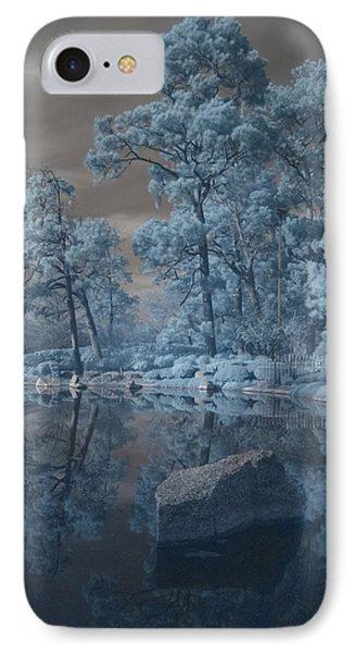 IPhone Case featuring the photograph Japanese Tea Garden Infrared Center by Joshua House