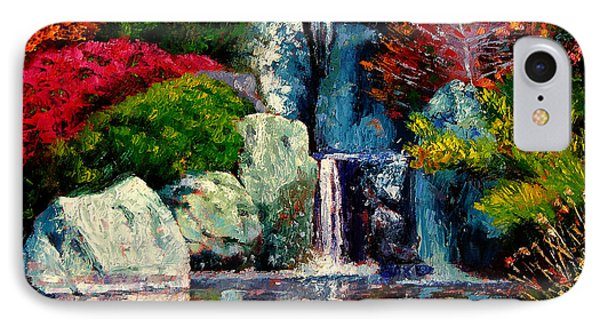 Japanese Waterfall Phone Case by John Lautermilch