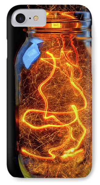 Jar Full Of Sparks IPhone Case by Garry Gay