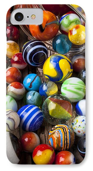 Jar Of Marbles Phone Case by Garry Gay
