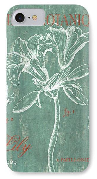 Lily iPhone 7 Case - Jardin Botanique Aqua by Debbie DeWitt