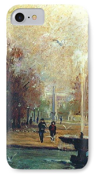 IPhone Case featuring the painting Jardin Des Tuileries by Walter Casaravilla