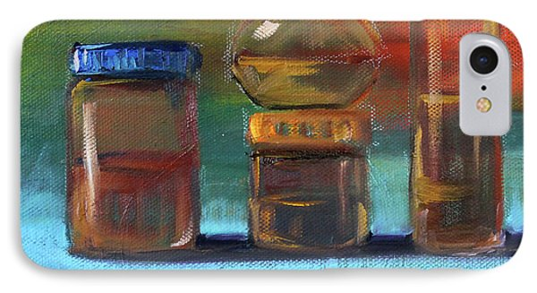 IPhone 7 Case featuring the painting Jars Still Life Painting by Nancy Merkle