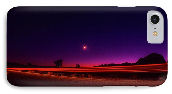 Jashua Tree Night Sky Light Trails IPhone Case by Timothy Kleszczewski