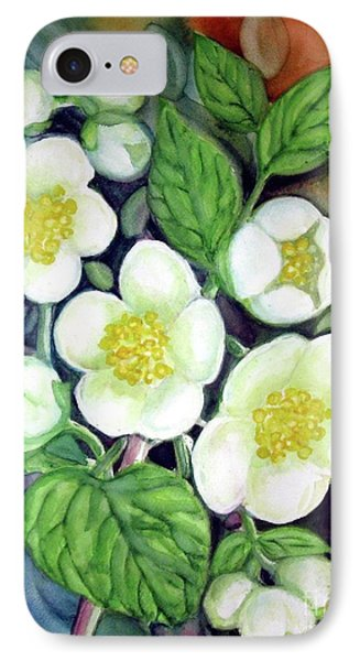 IPhone Case featuring the painting Jasmine Fantasy by Inese Poga