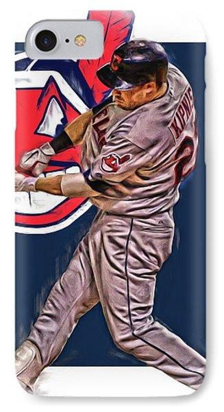 Jason Kipnis Cleveland Indians Oil Art 2 IPhone Case by Joe Hamilton