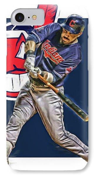 Jason Kipnis Cleveland Indians Oil Art IPhone Case by Joe Hamilton