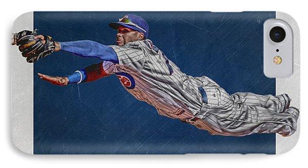 Javier Baez Chicago Cubs Art 2 IPhone Case by Joe Hamilton