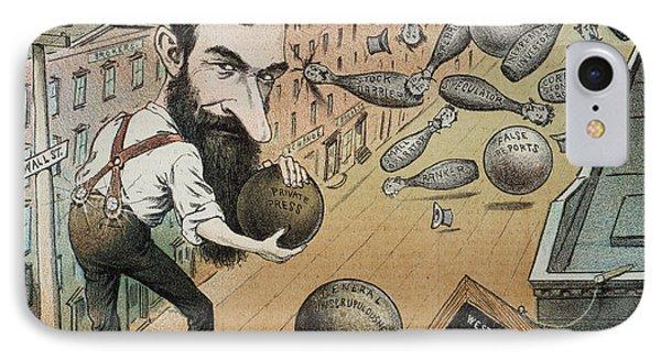 Jay Gould Cartoon, 1882 Phone Case by Granger