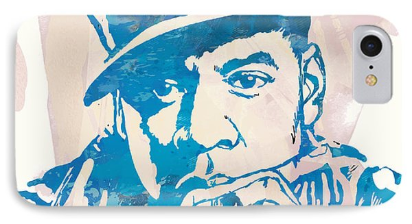 Jay-z  Etching Pop Art Poster IPhone Case by Kim Wang