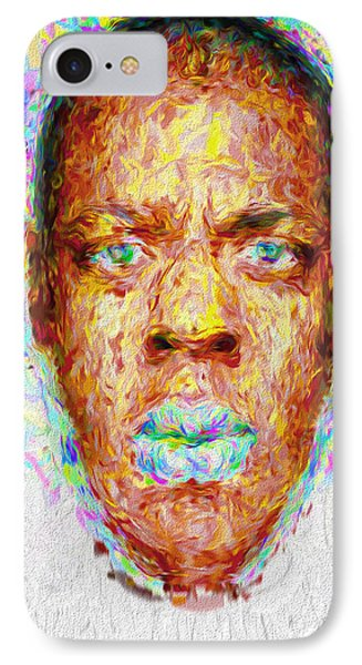 Jay Z Painted Digitally 2 IPhone Case by David Haskett