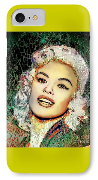 Jayne Mansfield - Pop Art IPhone Case by Ian Gledhill