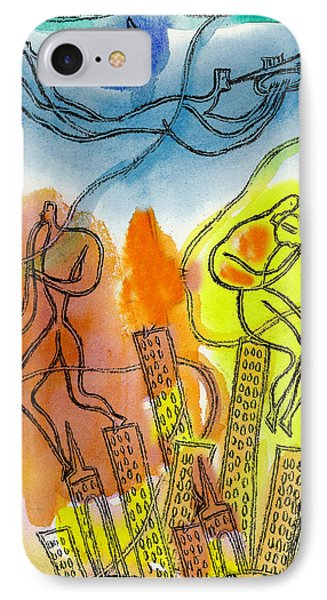 Jazz And The City 3 IPhone Case by Leon Zernitsky