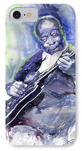 Jazz B B King 02 IPhone 7 Case by Yuriy  Shevchuk
