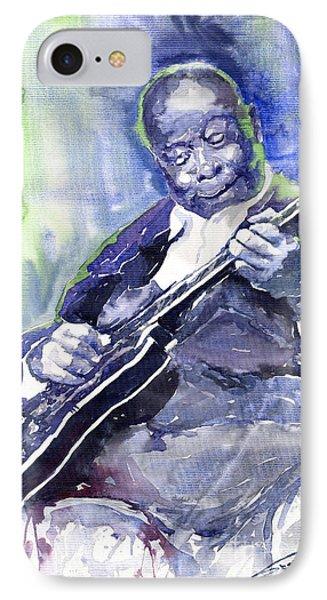 Jazz B B King 02 IPhone Case by Yuriy  Shevchuk