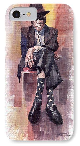 Jazz Bluesman John Lee Hooker IPhone Case by Yuriy  Shevchuk