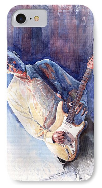 Jazz Guitarist Rene Trossman IPhone Case by Yuriy  Shevchuk
