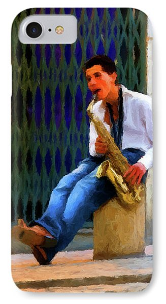 IPhone Case featuring the photograph Jazz In The Street by David Dehner