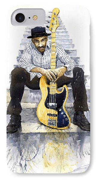 Jazz Marcus Miller 4 IPhone Case by Yuriy  Shevchuk