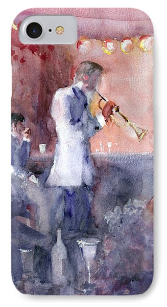 Jazz Nights IPhone Case by Faruk Koksal