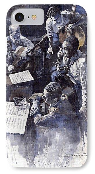 Jazz Parker Tristano Bauer Safransky Rca Studio Ny 1949 Phone Case by Yuriy  Shevchuk