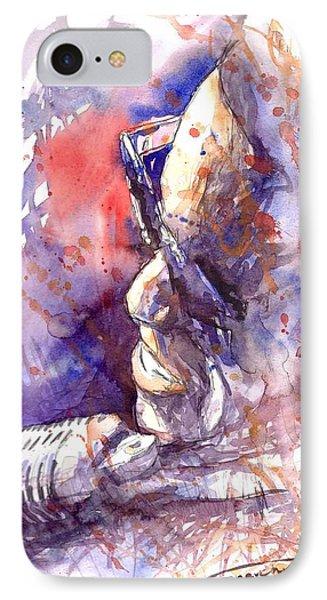 Jazz Ray Charles IPhone Case by Yuriy  Shevchuk