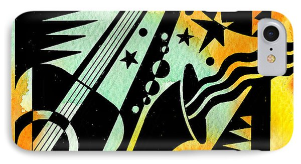 Jazz Relaxation IPhone Case by Leon Zernitsky
