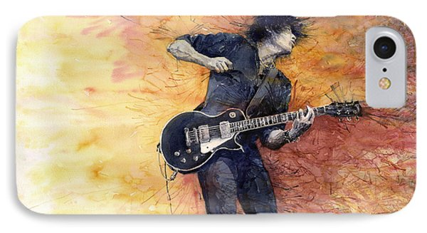 Jazz Rock Guitarist Stone Temple Pilots IPhone 7 Case by Yuriy  Shevchuk