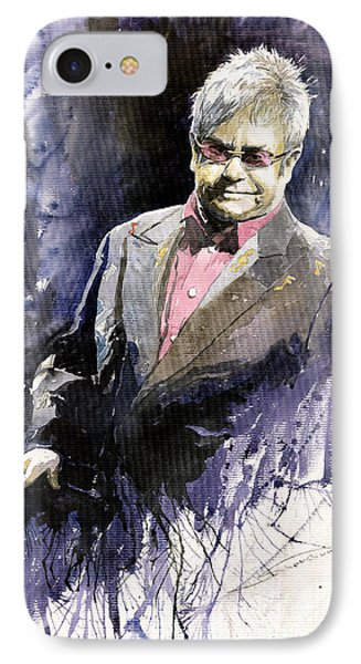 Musicians iPhone 7 Case - Jazz Sir Elton John by Yuriy Shevchuk