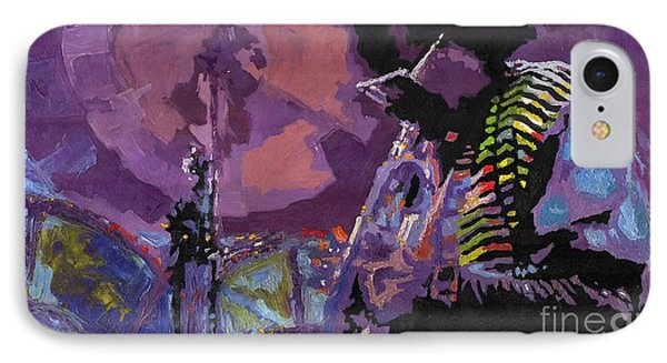 Trumpet iPhone 7 Case - Jazz.miles Davis.4. by Yuriy Shevchuk