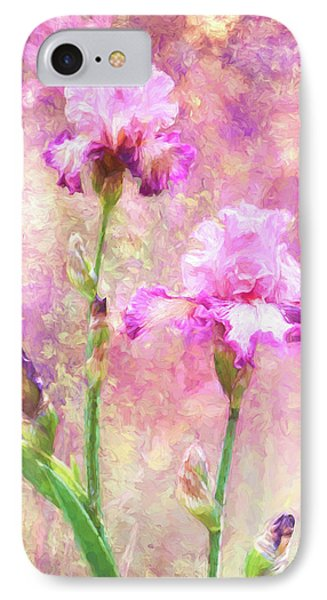 Jazzy Irises IPhone Case by Diane Schuster