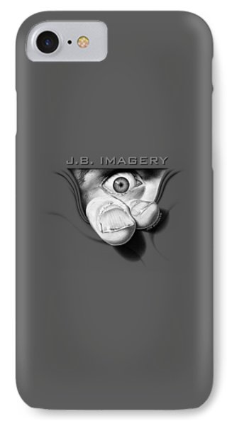 IPhone Case featuring the drawing J.b. Imagery by Joe Burgess