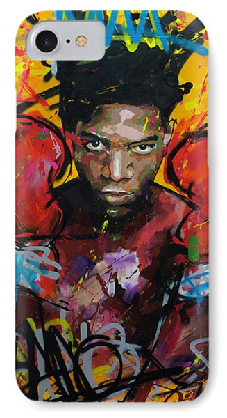 IPhone Case featuring the painting Jean-michel Basquiat by Richard Day