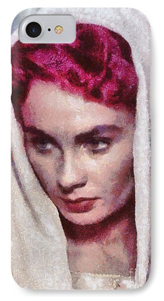 Jean Simmons, Vintage Hollywood Actress IPhone Case