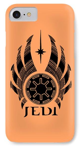 Jedi Symbol - Star Wars Art, Teal IPhone Case