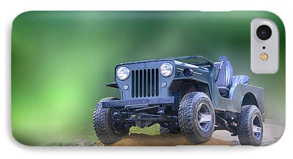 IPhone Case featuring the photograph Jeep by Charuhas Images