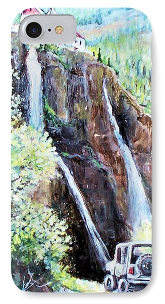 Jeeping At Bridal Falls  IPhone Case by Linda Shackelford