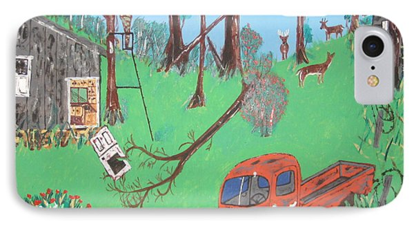 IPhone Case featuring the painting Jeff Bowhunting by Jeffrey Koss