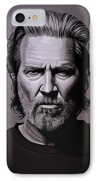 Jeff Bridges Painting IPhone Case by Paul Meijering