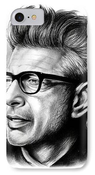 Jeff Goldblum IPhone Case by Greg Joens