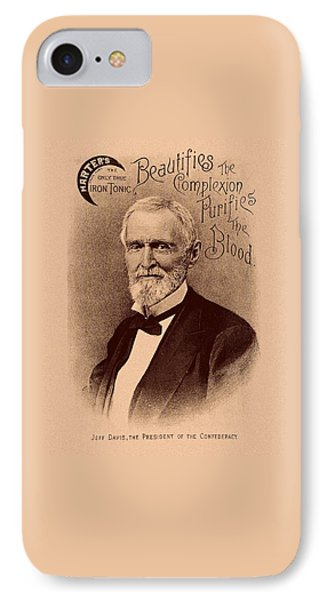 Jefferson Davis Vintage Advertisement IPhone Case by War Is Hell Store