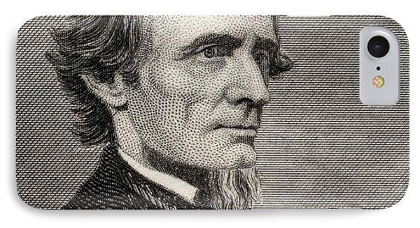 Jefferson Davis,1808-1889. First And IPhone Case by Vintage Design Pics